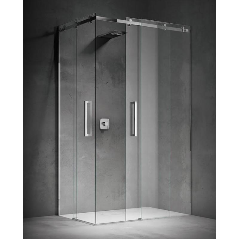 Treesse still box doccia con doppia porta scorrevole cristallo 8 mm - Porta in cristallo scorrevole ...