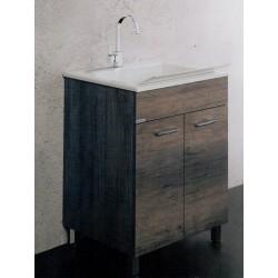 Lavarredo Unika con lavabo Zeus metacrilato 60x50 cm Elle Emme Ci Istallazione Interno Finitura Olmo Scuro