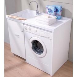 Mobile Ellemmeci coprilavatrice destro + lavatoio a sinistra linea Sirena 106x60x90h cm