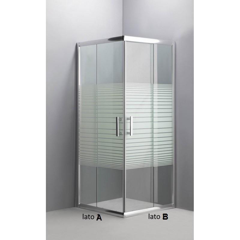 Cabina doccia box doccia angolare cristallo serigrafato 6 mm - Box doccia globo ...