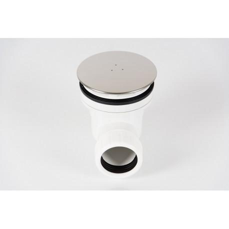 Piletta di Scarico Sifonata Tea con Tappo Cromo Ø 60