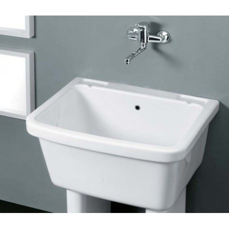 Vasca lavatoio con troppopieno vendita online - Lavelli cucina ceramica dolomite ...