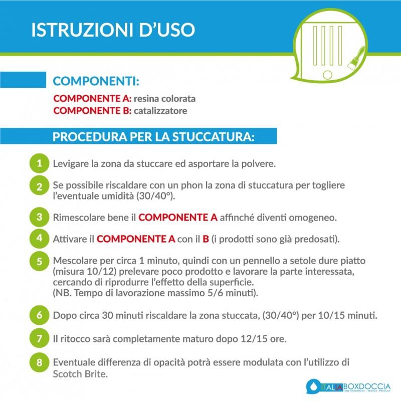 Riparare Piatto Doccia In Resina.Kit Riparazione Piatto Doccia Pietra Sintetica Mineral Marmo