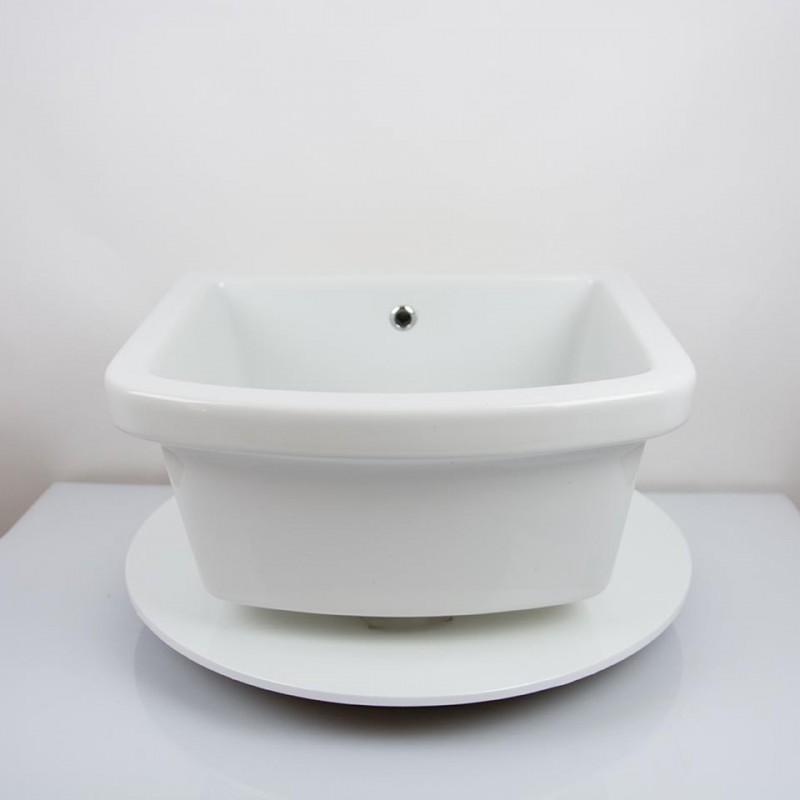 Pilozzo Lavanderia In Ceramica.Pilozzo Lavanderia Sospeso O Appoggio 60 X 45 X 22h Cm In Ceramica Bianca Vendita Online Italiaboxdoccia