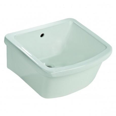 Pilozzo lavanderia sospeso o appoggio 60 x 45 x 22h cm in ceramica bianca