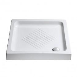 Piatto Doccia Catalano 80x80 H 10 cm Quadrato in Ceramica mod. Base