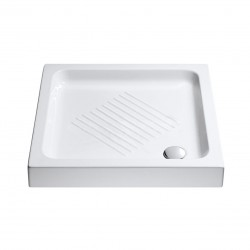 Piatto Doccia Catalano 75x75 H 10 cm Quadrato in Ceramica mod. Base