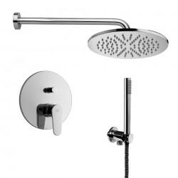 Composizione doccia Paffoni Green con Soffione Ellittico, miscelatore con deviatore e set duplex