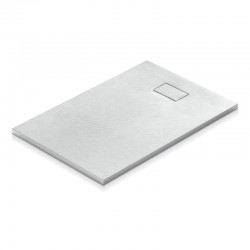 Treesse Kube Piatto Doccia 90x140 cm in resina termoformata Effetto pietra di colore bianco altezza 2,8 cm
