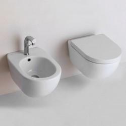 Vaso + Bidet Sospesi Althea Cover Asami con Tecnologia Total Flush