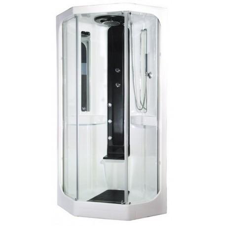 Cabina doccia idromassaggio marley 90x90 con sauna - Cabine doccia multifunzione ideal standard ...