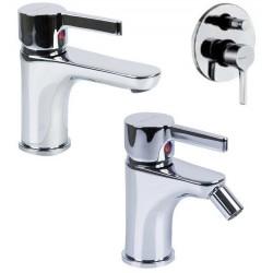 Fratelli Frattini Bit Miscelatori Lavabo art. 66054 + Bidet art. 66103 + Incasso doccia con deviatore art. 66010