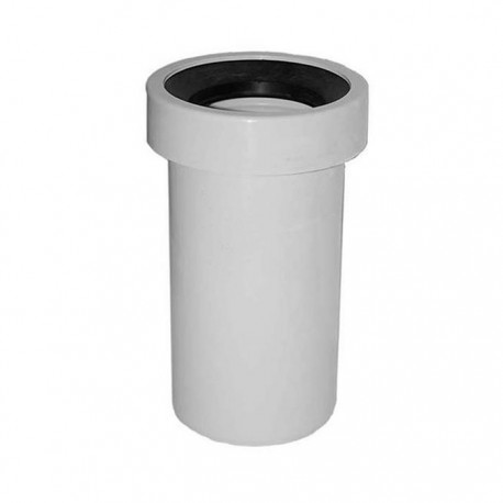 Tubo di connessione rigido per scarico WC a parete colore bianco
