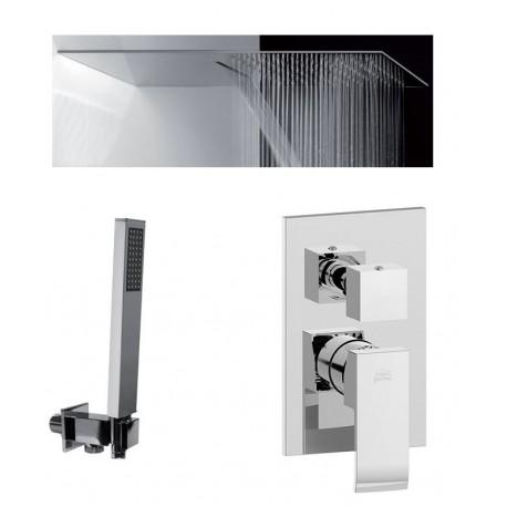 Composizione Doccia Paffoni Elle Miscelatore con Deviatore a 3 Uscite + Set Duplex + Soffione Mariani Ultrapiatto SRO/05