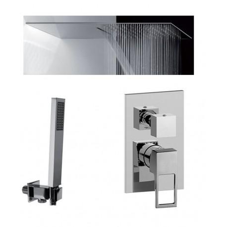 Composizione Doccia Paffoni Effe Miscelatore con Deviatore a 3 Uscite + Set Duplex + Soffione Mariani Ultrapiatto SRO/05