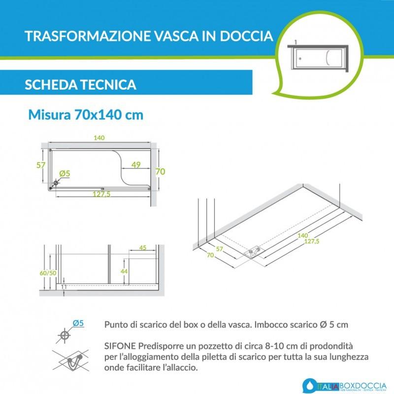 Misure Box Doccia.Box Doccia Per Sostituzione Vasca Vendita Online Italiaboxdoccia