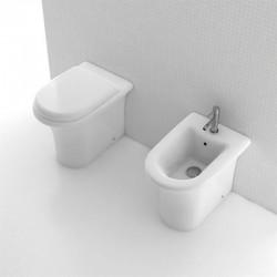 Vaso con Sedile a Chiusura Soft Close + Bidet Filomuro H2O Small Domus Falerii