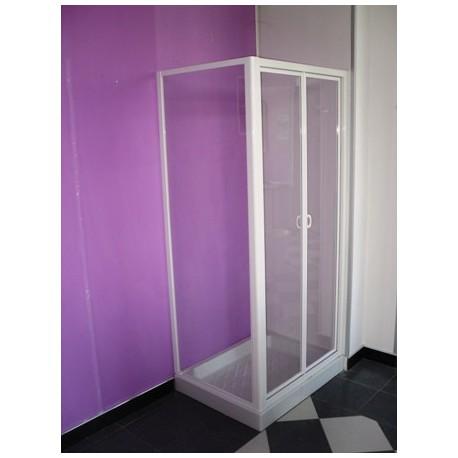 Box doccia con movimento a soffietto   parete fissa cristallo 3 mm ...