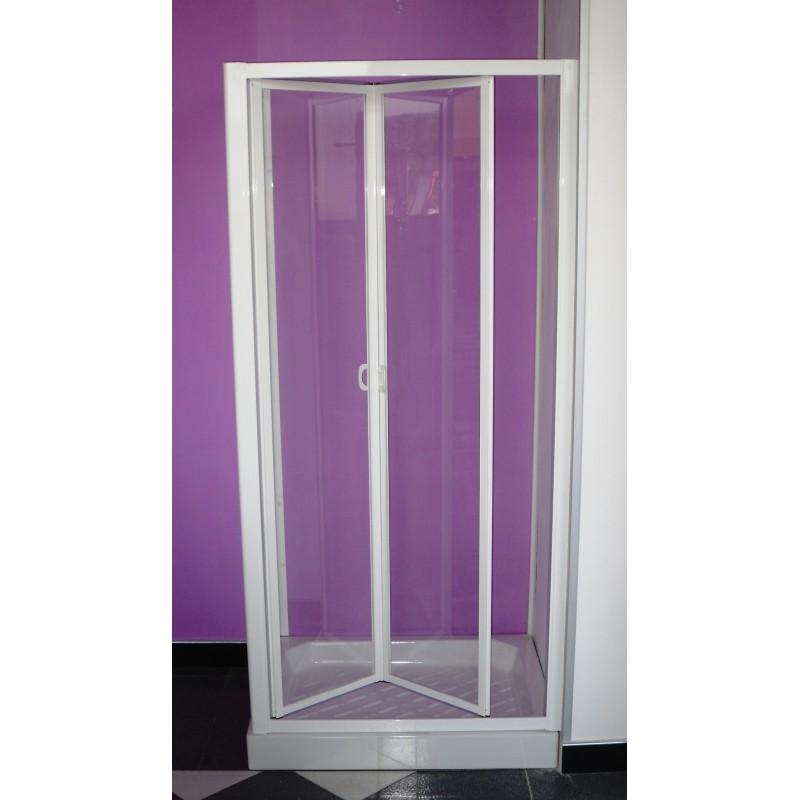 Porta per vano doccia con movimento a soffietto cristallo for Box doccia 70x100 leroy merlin