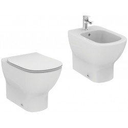 Sanitari Filo muro Ideal Standard Tesi Wc AQUABLADE® con Scarico Traslato e Bidet