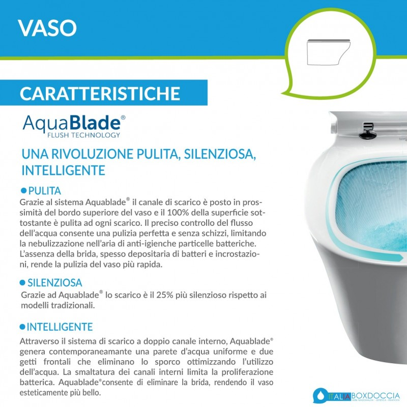 Ideal Standard Wc Aquablade Con Scarico Traslato Art T3537 Tesi