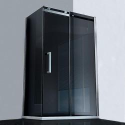Box Doccia con Porta Scorrevole Cristallo 8 mm Profilo Cromo Altezza 200 cm art. OS13