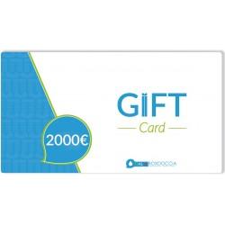 Gift Card 2000 euro un regalo a portata di click