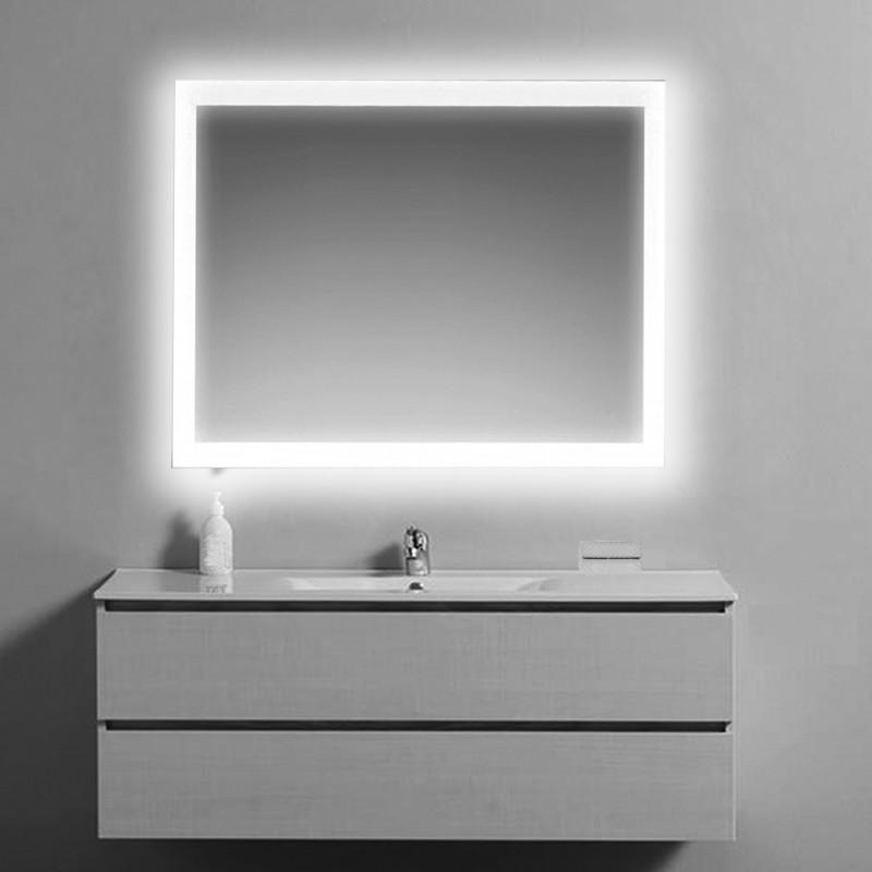 Specchio Bagno Retroilluminato Prezzi.Su Misura Specchio Da Bagno Filo Lucido Retroilluminato Led
