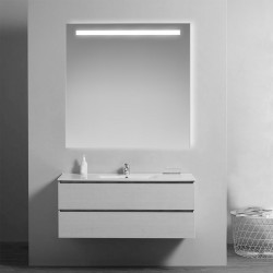 Su Misura Specchio da Bagno Filo Lucido con Fascia Sabbiata Retroilluminata led 20W art. spe03