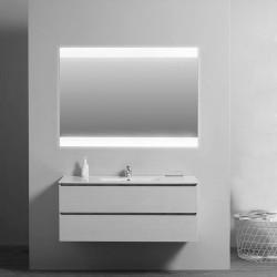 Su Misura Specchio da Bagno Filo Lucido con Fasce Laterali Sabbiate Retroilluminate a led 20W art. spe04