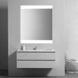 Su Misura Specchio da Bagno Filo Lucido con Fascie Laterali Sabbiate Retroilluminate led 15W art. spe05