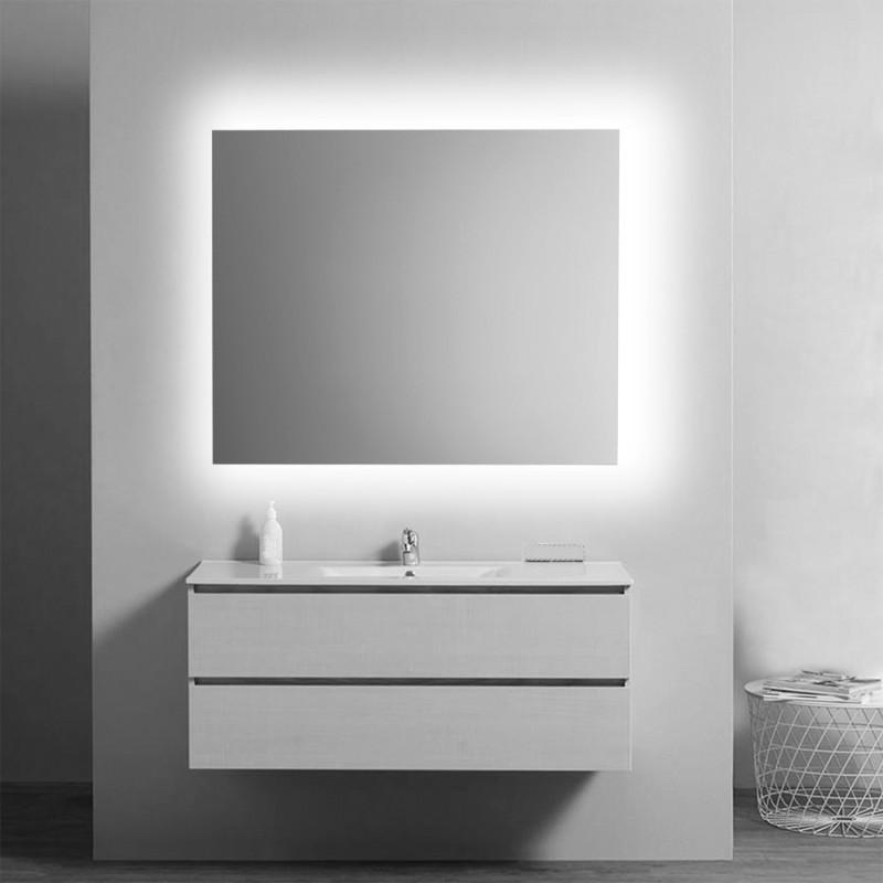 Specchio Bagno 80 X 70.Su Misura Specchio Da Bagno Filo Lucido Retroilluminato Led