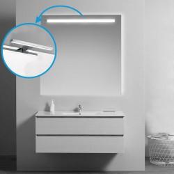 Su Misura Specchio da Bagno Filo Lucido con Fascia Sabbiata + Lampada led da 5W art. spe32