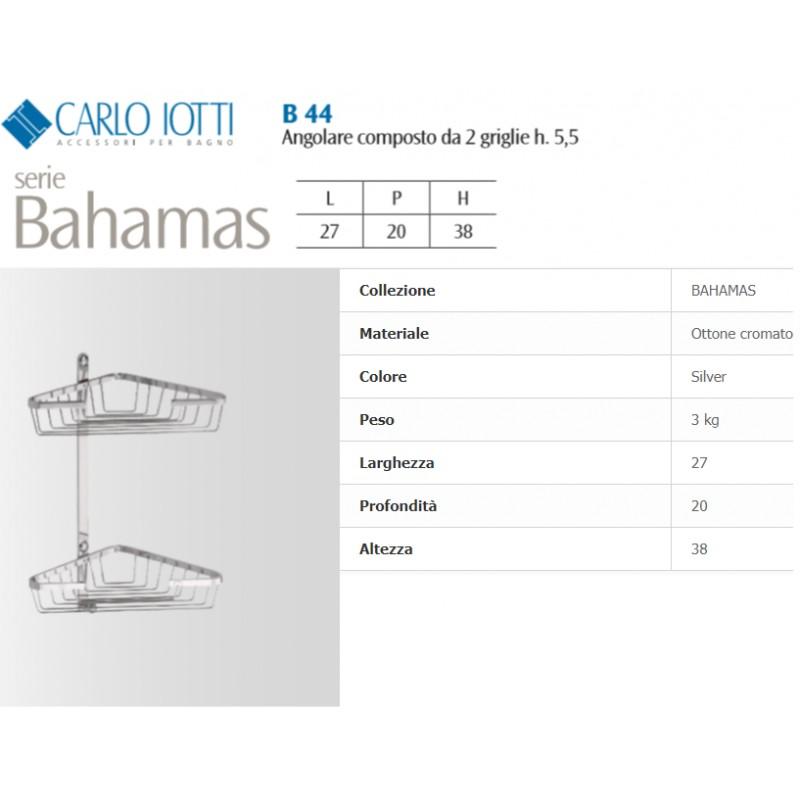 Carlo Iotti Accessori Bagno.Carlo Iotti Mensola Angolare Bahamas 2 Piani In Ottone Cromato B44