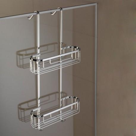 Mensola a 2 Piani Rettangolare 12 cm per Appoggio Telaio Box Doccia Liberty art. LIX1212 Carlo Iotti