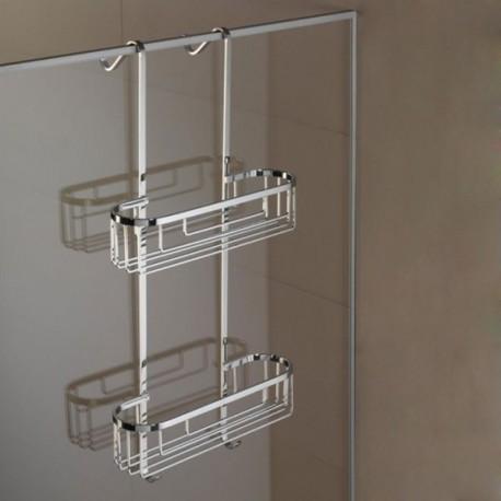 Mensola a 2 Piani Rettangolare 12 cm per Appoggio Telaio Box Doccia Liberty art. LIX1313 Carlo Iotti