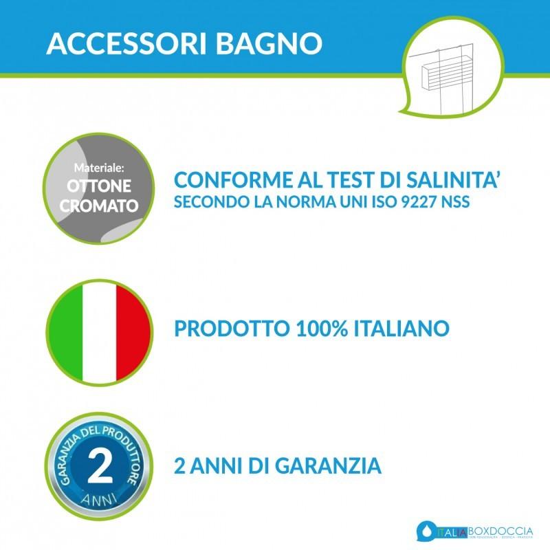 Carlo Iotti Accessori Bagno.Carlo Iotti Mensola A 2 Piani Rettangolare 8 Cm Tech Te1313