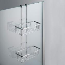 Mensola a 2 Piani Rettangolare di Altezza 8 cm per Box Doccia TECH TE1313 Carlo Iotti
