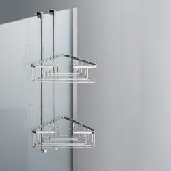Mensola a 2 Piani Angolare di Altezza 8 cm per Box Doccia TECH TE1111 Carlo Iotti