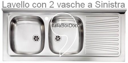 Lavello in Acciaio Inox da Appoggio con due Vasche - Vendita Online ...