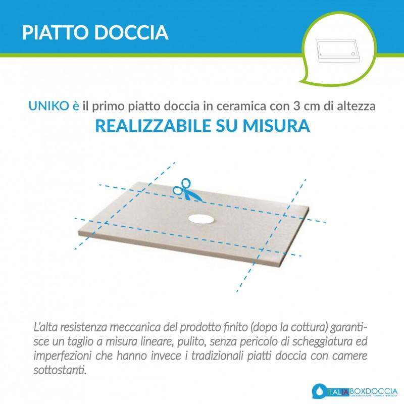 Piatto Doccia Uniko 80x160 H 3 cm Azzurra Ceramica Tortora