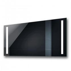 Su Misura Specchio per Sala da Bagno Filo Lucido con Doppia Fascia Sabbiata Retroilluminata led 20W art. spe62