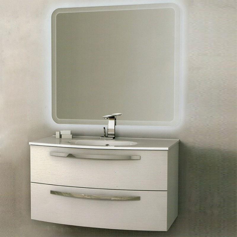 Baden Haus - Mobile da Bagno James Sospeso da 75 cm Frassino Bianco