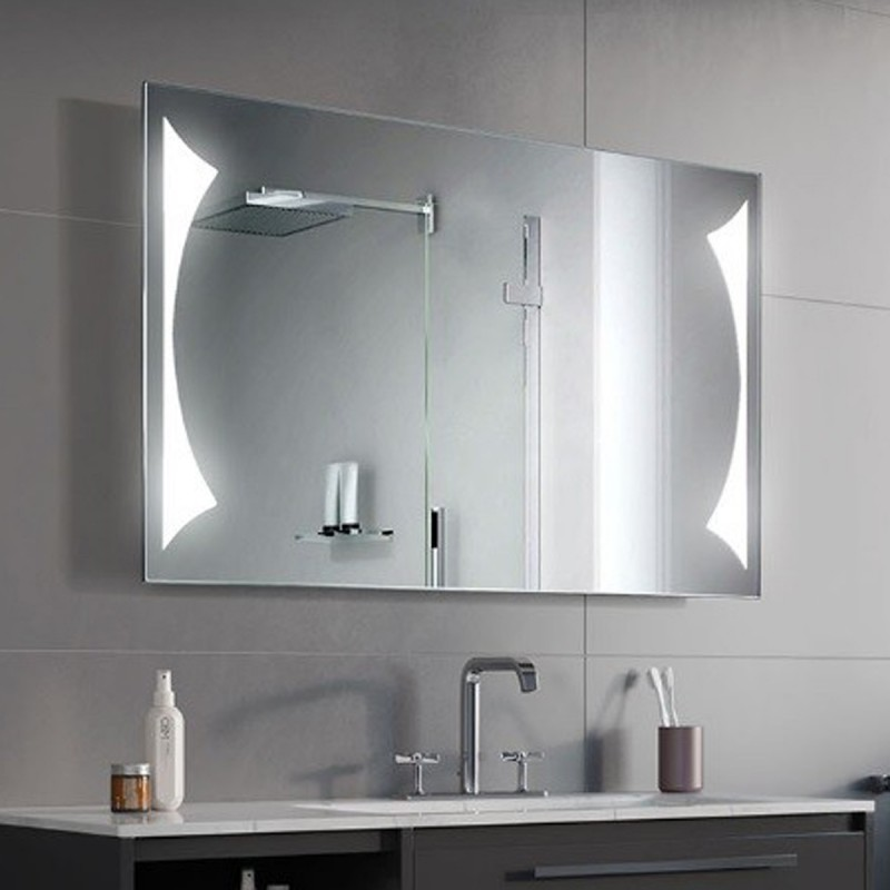 Specchio Bagno Led.Specchio Bagno Su Misura Filo Lucido Retroilluminante Led 20w Triangolo