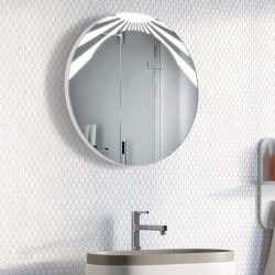 Specchio Rotondo Bagno Su Misura Filo Lucido Retroilluminante led 20W mod. Ginevra