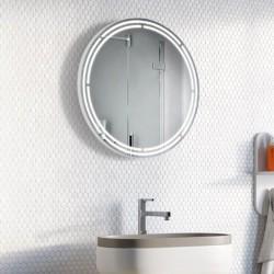 Specchio Rotondo Bagno Su Misura Filo Lucido Retroilluminante led 20W mod. Vienna