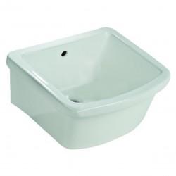 Pilozzo lavanderia sospeso o appoggio 46 x 40 x 24h cm in ceramica bianca