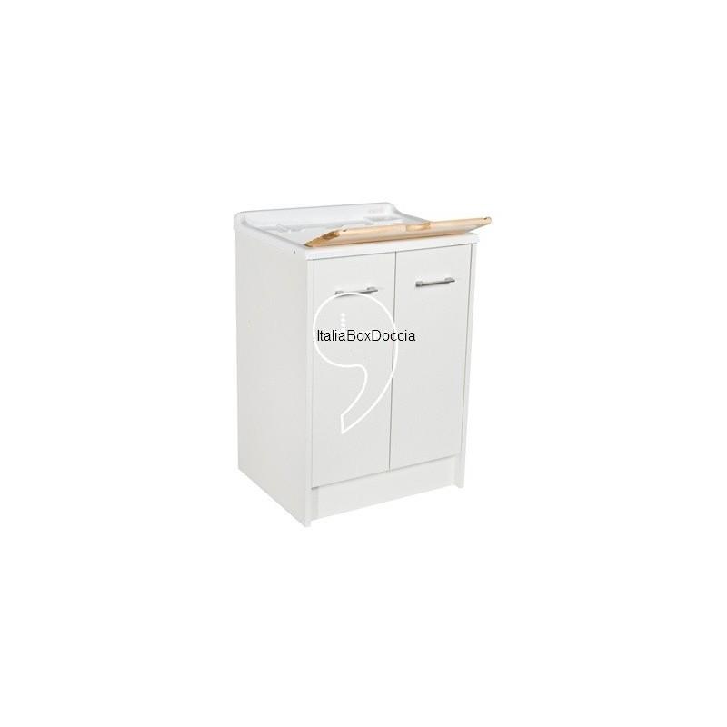 Mobile lavatoio 60x50 bianco vendita online italiaboxdoccia - Mobile lavatoio ...