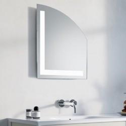 Specchio Bagno Su Misura Filo Lucido Retroilluminante led 20W mod. Lione