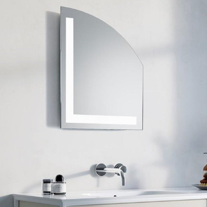Led Per Specchio Bagno.Specchio Bagno Su Misura Filo Lucido Retroilluminante Led 20w Lione